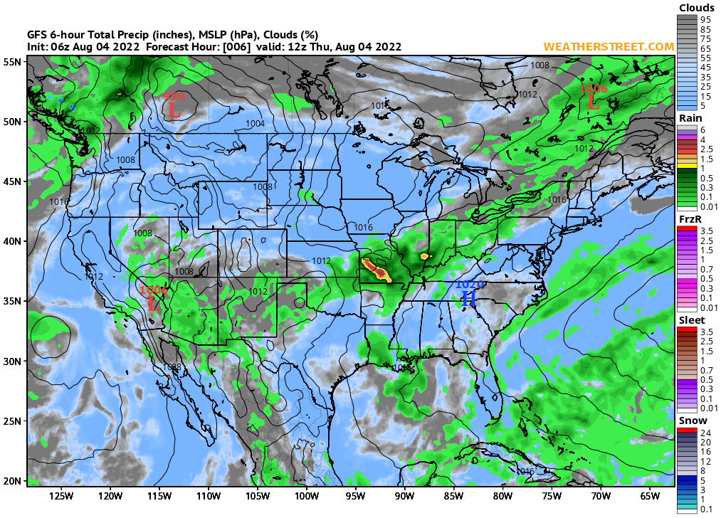 Weather Street 10 Day Forecasts From The Gfs Model - Us-weekend-weather-map